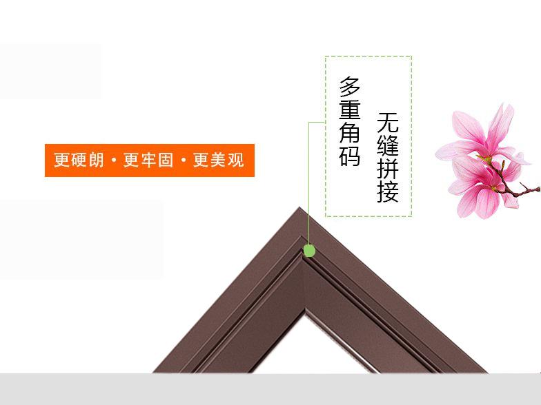 66/108断桥平开窗-柚木的窗扇侧面设计优点