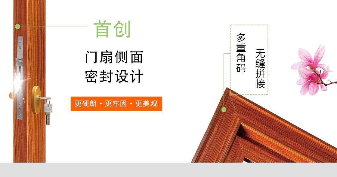 1.4简窄平开门63系列-电氟黑门扇与拼接优点