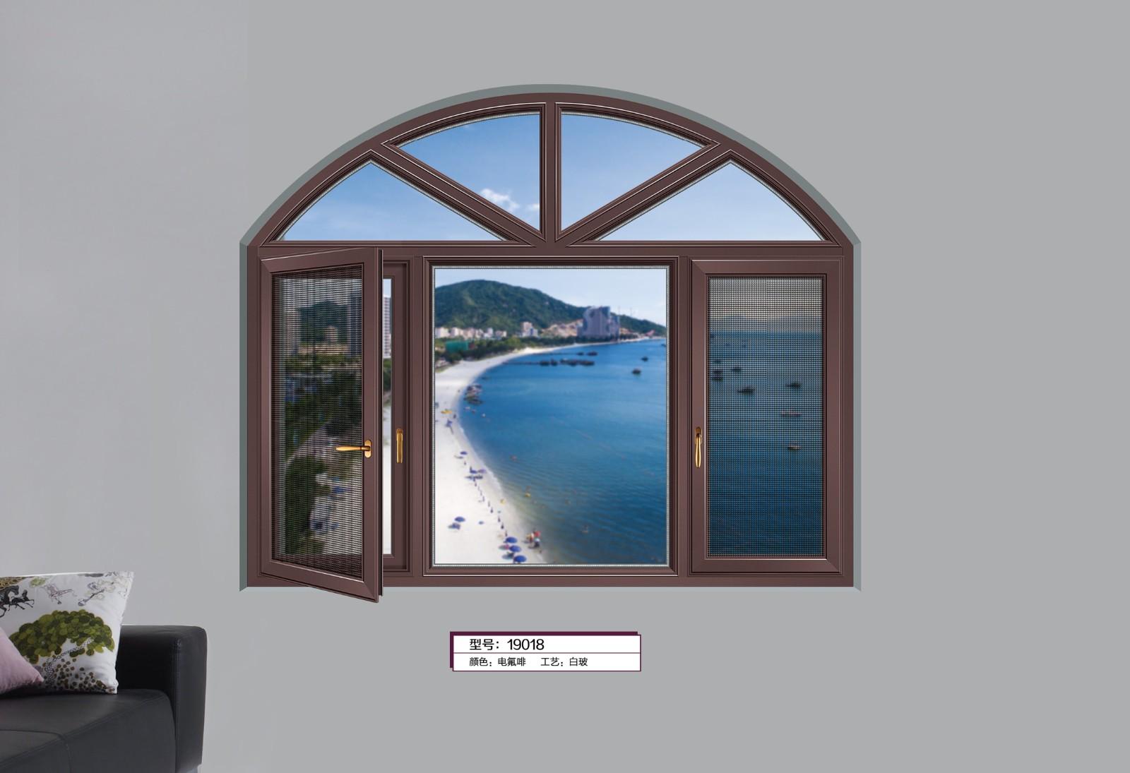 66/108断桥平开窗-电氟啡的效果图