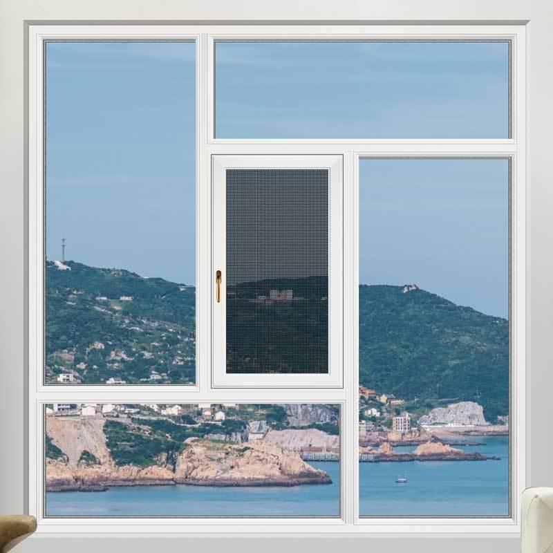 68/118断桥平开窗-白色